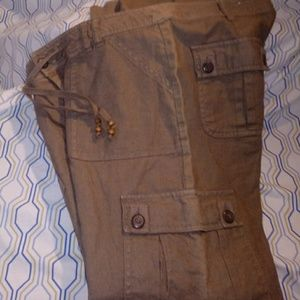 Brown Linen Pants/Trousers-11/12